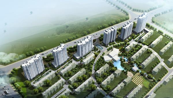 兴业春天位于大连路与临沂南路交汇处,占居日照开发区
