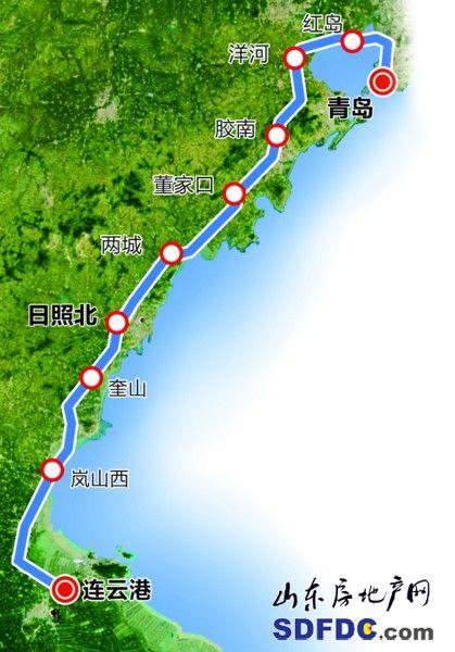青连铁路连通青岛日照连云港 搭连跨胶州湾